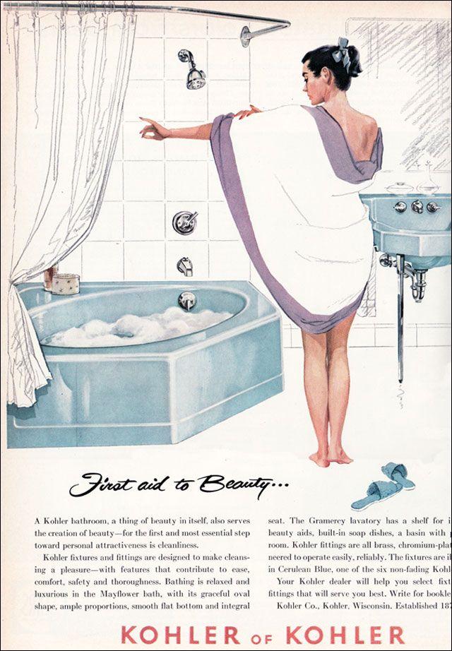 29 best BAÑOS VINTAGE images on Pinterest | 1950s bathroom, 50s ...