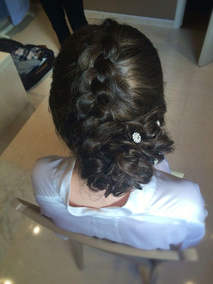 Dutch braid with knot | wedding updo| vlecht & lage knot | trouwkapsel
