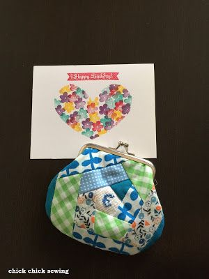 chick chick sewing: Making Patchwork *Gamaguchi* Wallet or Metal Frame Coin Purse ♥ パッチワークのがま口財布を作りました♥