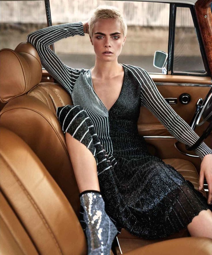Model and actress Cara Delevingne lands the September 28th, 2017 cover of The Edit from Net-a-Porter. Lensed by Alexandra Nataf, the blonde beauty next to a vintage car in a Carmen March top, IRO sequined skirt and Isabel Marant boots. For the accompanying shoot, Cara continues to shine in black and silver looks. Stylist Ilona...[Read More]