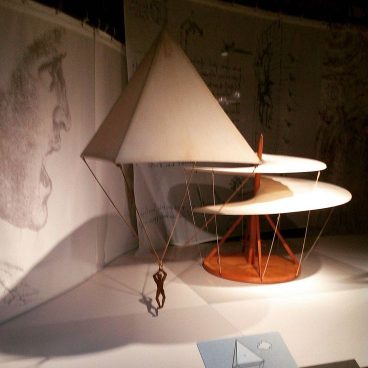 Another non #bitcoin post I never knew #davinci also #invented the #parachute what an #amazingday at the #leonardodavinci #exhibition at the #london #science #museum. Such #genius! #design #engineering #inventions #flight #skydiving #ideas #aircraft #flying #paragliding