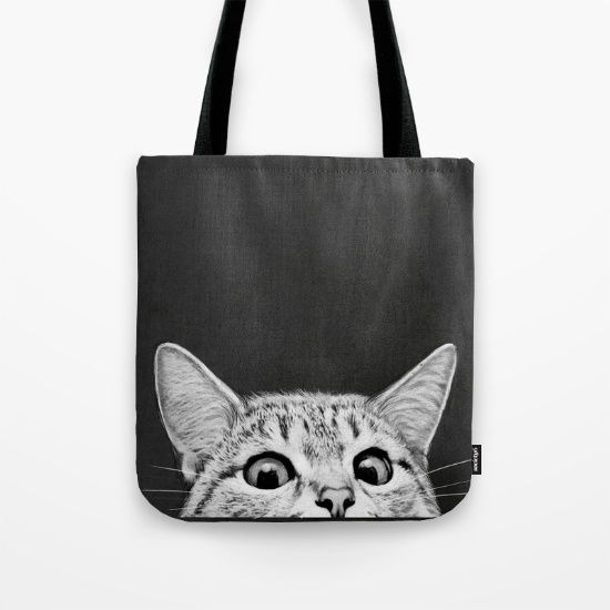 You asleep yet? by Laura Graves  cute kitty in a bag!