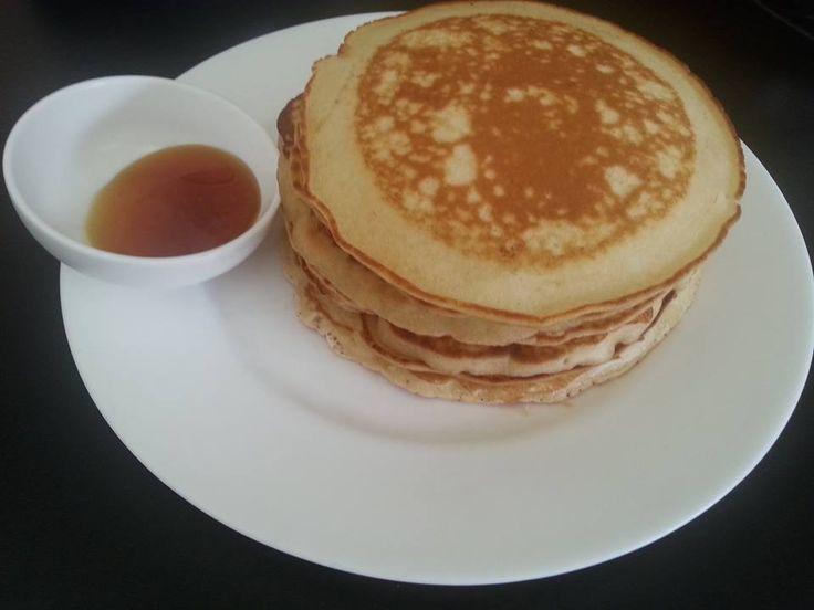 Macadamia and vanilla paste pancakes for breaky..My kids luv them