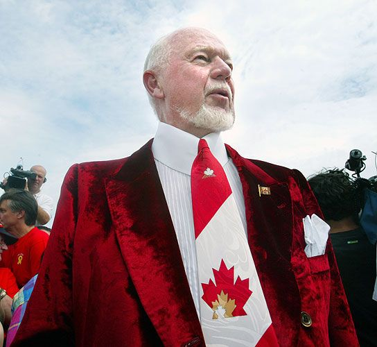 Don Cherry proudly Canadian.