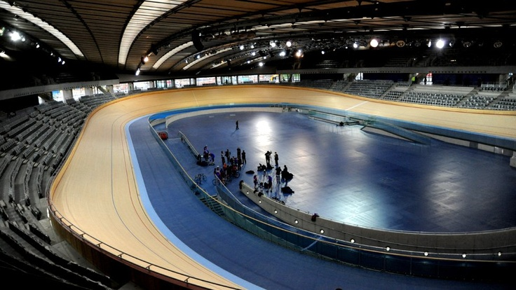 The Olympic velodrome at the Olympic Park, Stratford, East London, 27 January 2011.