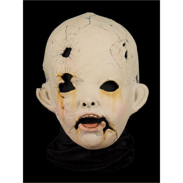 Halloween Mask Creepy Doll (570 SEK) ❤ liked on Polyvore featuring photo