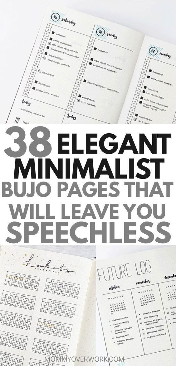38 SIMPLE YET STUNNING Minimalist ideas for bullet journals