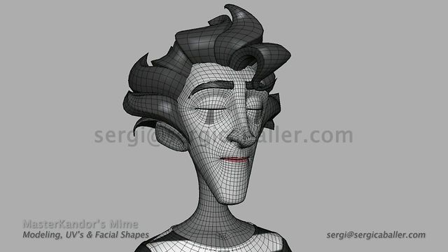 MasterKandor's Mime - Modeling Timelapse by Sergi Caballer Garcia. Freelance Work: Character & facial shapes modeling for the main character of MasterKandor.