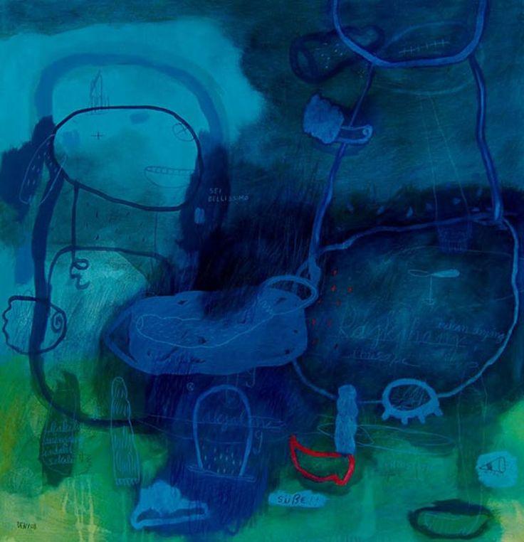 "Saatchi Art Artist deny pribadi; Painting, ""sei bellissimo"" #art"