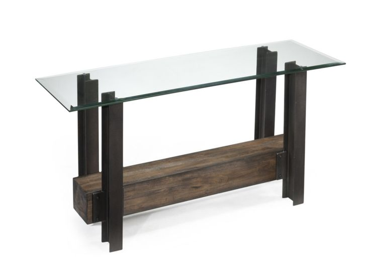 Leather Sectional Sofa Rowan Rectangular Sofa Table by Magnussen Home Fill your living room with beautifully crafted unique design and natural woods