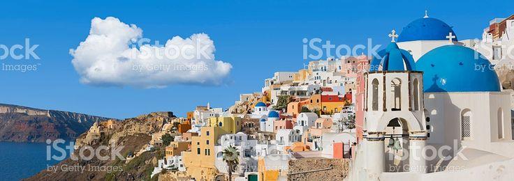 Santorini panorama in Oia on Greece royalty-free stock photo