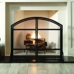 Pleasant Hearth Harper 1-Panel Fireplace Screen with Doors-FA338S - The Home Depot