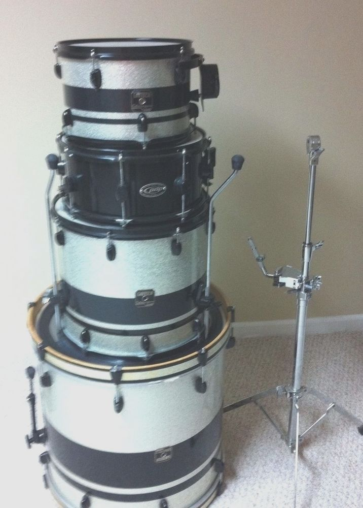Used Gretsch Drum Set ,3 pieces with PDP snare drum making a 4 piece drum set #PDP