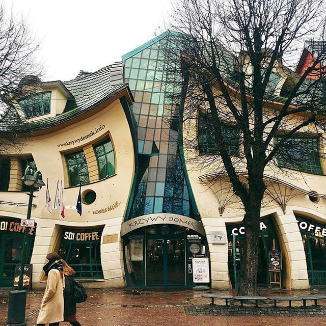 crooked house in poland // so cool, right? #artsn