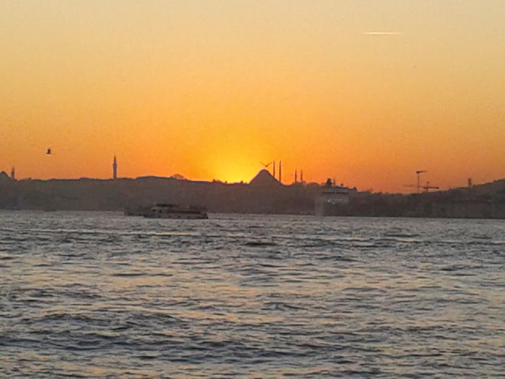 Sunset in Old Istanbul View from Uskudar Side