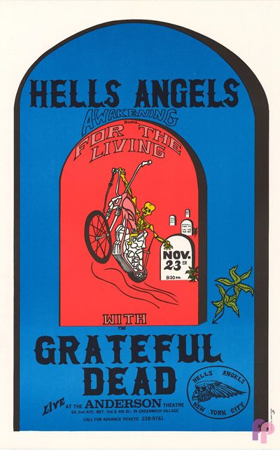 Grateful Dead at Anderson Theater, Greenwich Village, New York 11/23/70 by Unknown