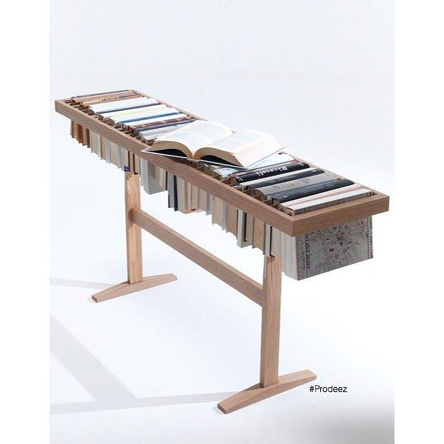 From Prodeez Product Design: Booken by Raw Edges. #furniture #shelf #table #wood #creative #design #ideas #designer #rawedges #interior #interiordesign #product #productdesign #instadesign #furnituredesign #prodeez #industrialdesign #architecture #style #art