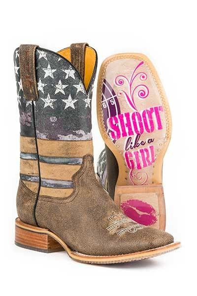 Tin Haul Womens Boots - American Woman