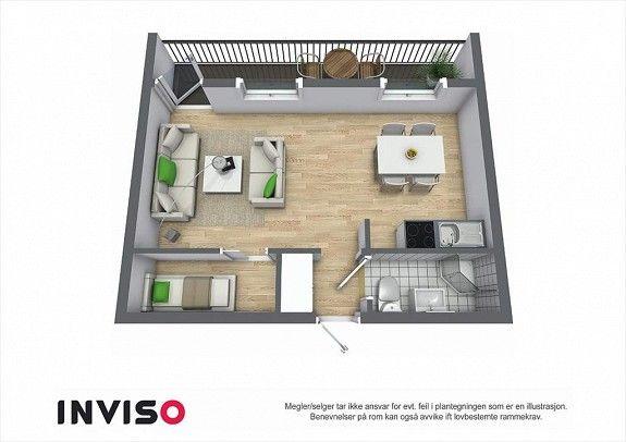25m2 flat idea stuga c n h minis v nh p. Black Bedroom Furniture Sets. Home Design Ideas