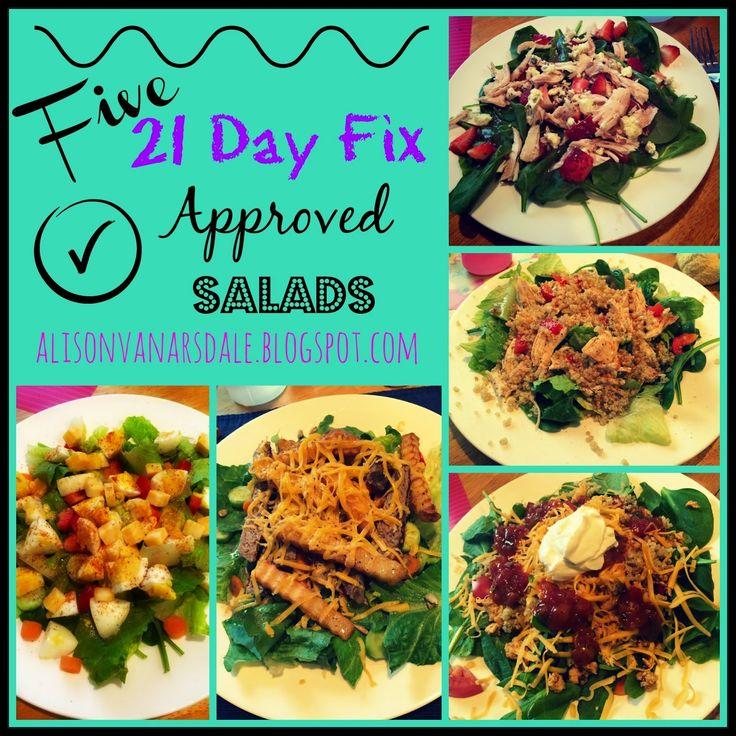 21 Day Fix Recipe, Salad...needs a few modifications but good ideas