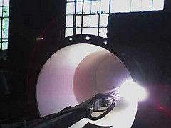 Aplicação de revestimento de Óxido de Alumínio por Plasma. O revestimento foi aplicado no interior de um ciclone de aço carbono para evitar o desgaste por corrosão em processamento de baterias. Quer saber mais a respeito de revestimentos aplicados por aspersão térmica? Visite o site: www.rijeza.com.br