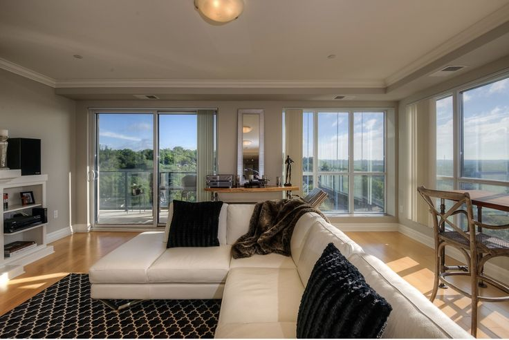 Open concept living space with views.