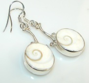 Beauty Twins Shiva Shell Sterling Silver earrings