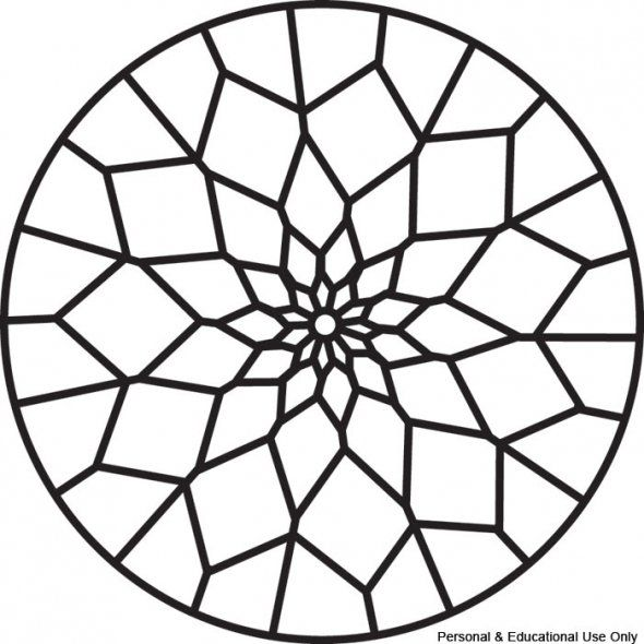 find this pin and more on diy stained glass simple mandala coloring pages - Colouring Ins