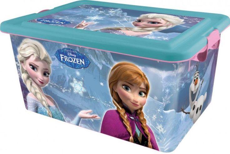 Elsa e Anna Disney Frozen Scatola Portagiochi in Plastica con Coperchio, Capacità 23 litri, Arredo Cameretta Bambina - TocTocShop.com - Fantastico per i Bambini, Imbattibile nei Prezzi