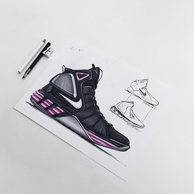 My favorite part about this design is the fact that the Nike logo lines up  perfectly within the shoes form. The designer also did a great job  illustrating ...