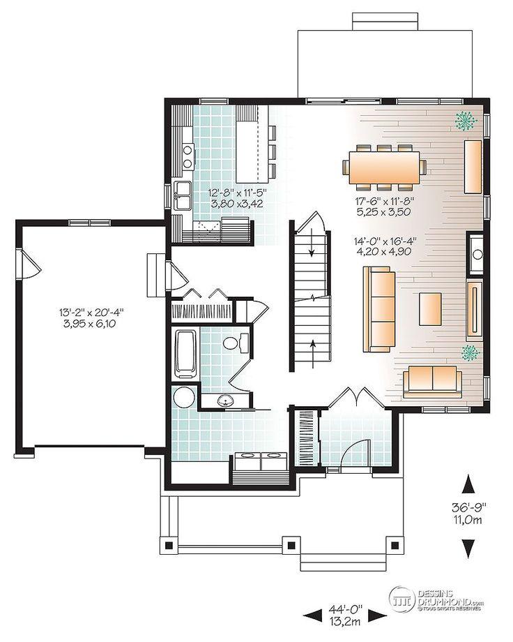 11 best houses images on Pinterest Modern houses, Modern homes and - plan de maison en v gratuit