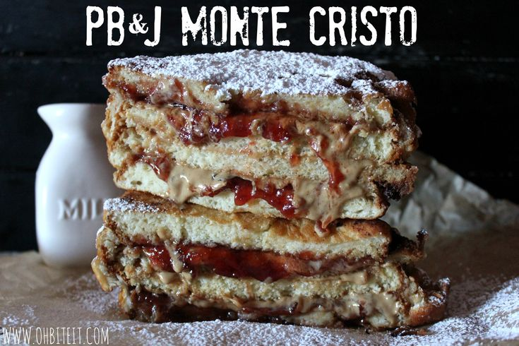 : Sandwiches, Sweet, Food, Recipes, Monte Cristo Sandwich, Peanut Butter, Pb J Monte, Dessert