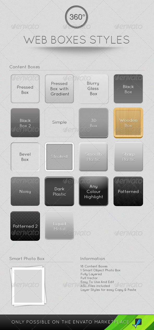 Web Boxes Styles - GraphicRiver Item for Sale