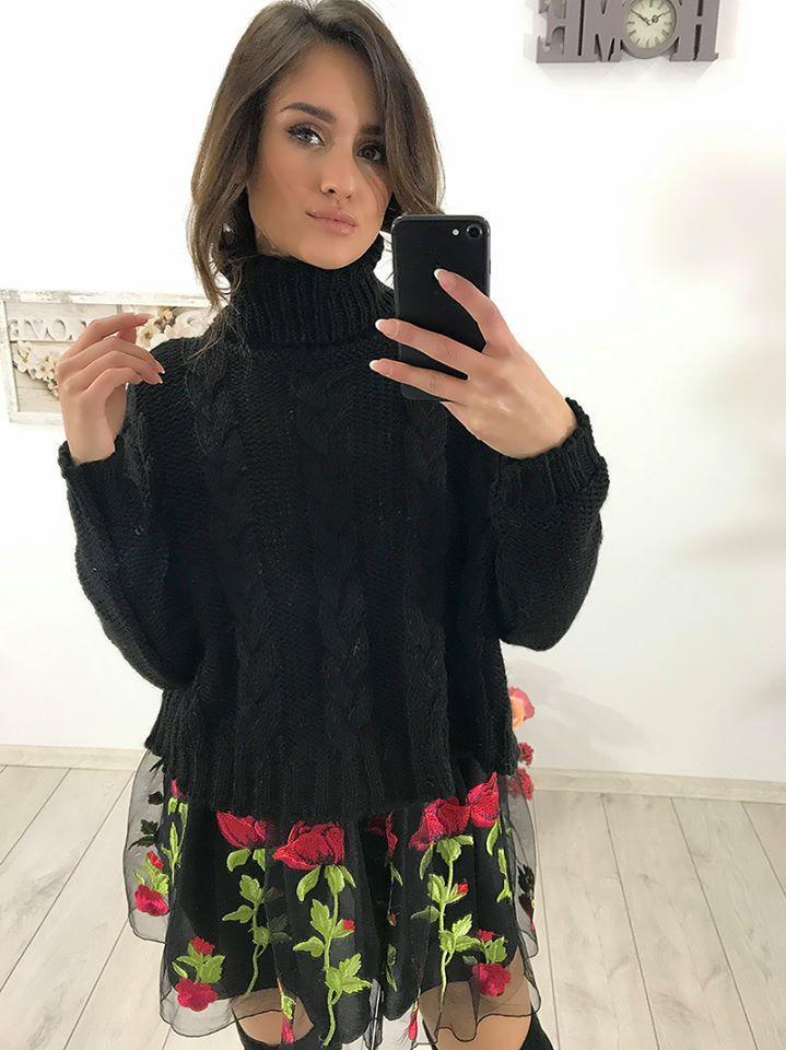 💖 Cudowny sweter z golfem 💖 Dostępne kolory: czarny, grafitowy, szary, morelowy, beżowy Link do produktu: ➡️ http://bit.ly/2xfxqzp ⬅️ Stylistka Sara <3