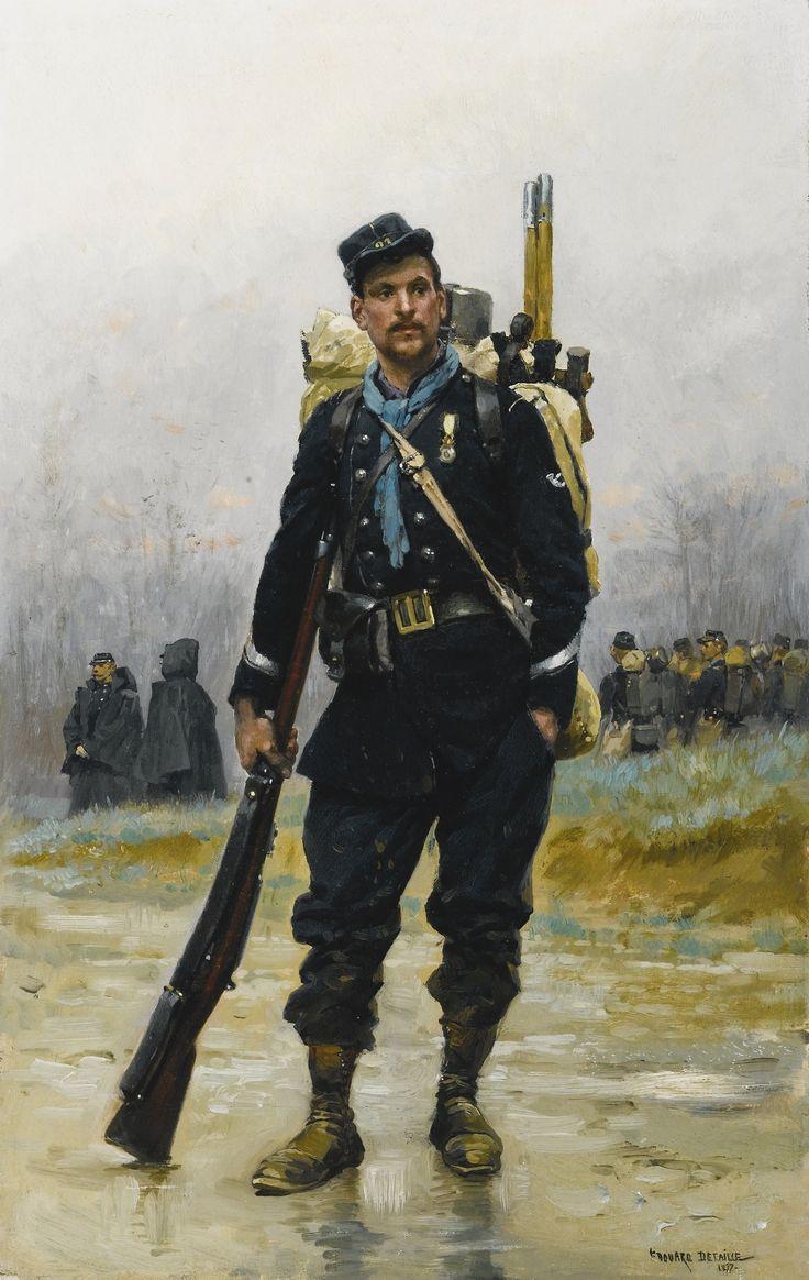 E.Detaille,chasseur à pieds.