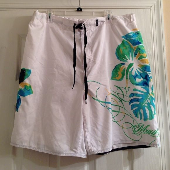 Men's Swim Shorts Men's bathing suit with colorful leaf and flower design. Maui and Sons Shorts