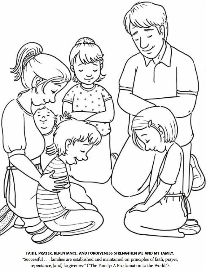 Good Lds Prayer Coloring Page 7 LDS Games Color Time