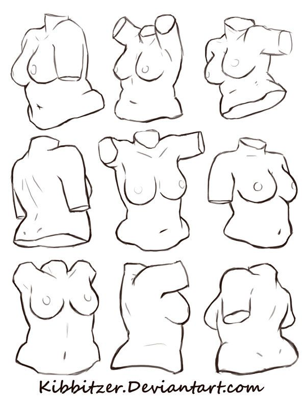 female torso reference sheet 2 by Kibbitzer on DeviantArt ★    CHARACTER DESIGN REFERENCES (https://www.facebook.com/CharacterDesignReferences & https://www.pinterest.com/characterdesigh) • Love Character Design? Join the #CDChallenge (link→ https://www.facebook.com/groups/CharacterDesignChallenge) Share your unique vision of a theme, promote your art in a community of over 40.000 artists!    ★