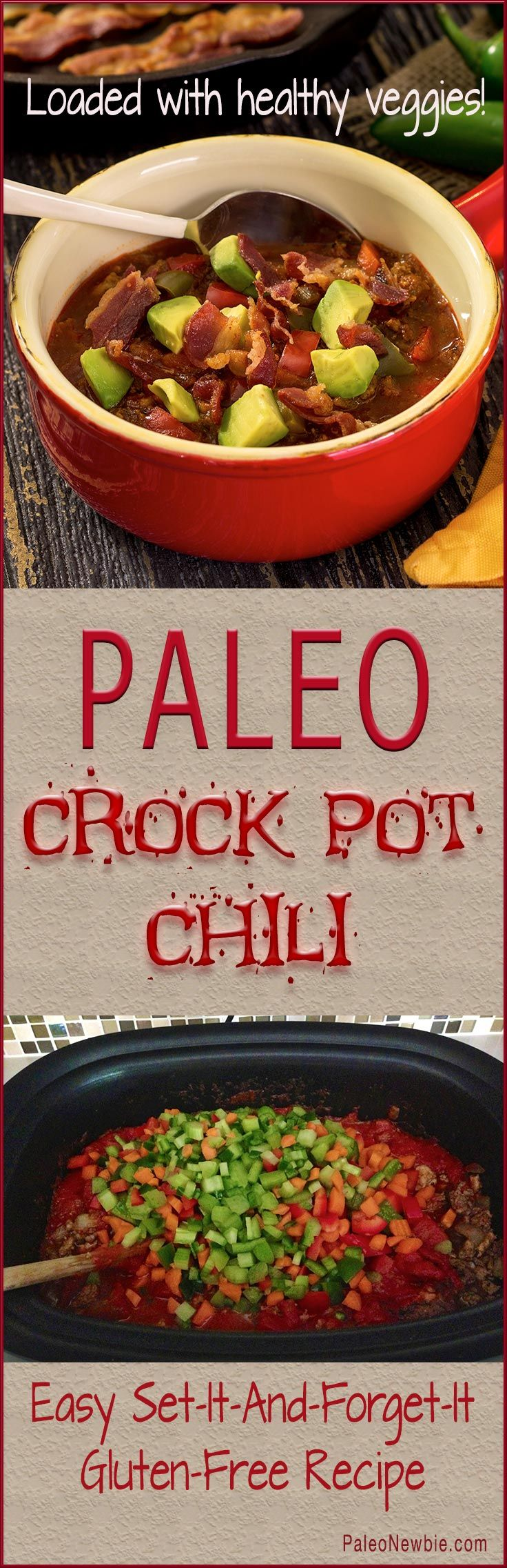 Healthy, hearty and super-simple slow cooker recipe for amazing chili...the most popular winter recipe on the site!
