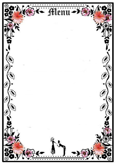empty menu template