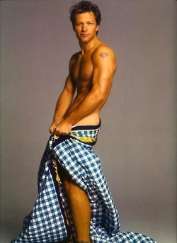 Jon Bon Jovi for Versace...old campaign circulating on fb. Excellent reminder of