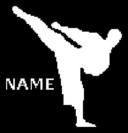 Karate Kick Crochet Graphghan Pattern (Chart/Graph AND Row-by-Row Written Instructions)