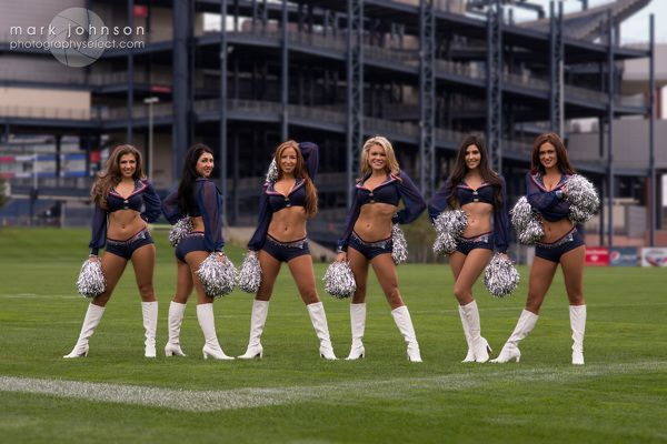 New England Patriots Cheerleaders by Mark Johnson, via Behance