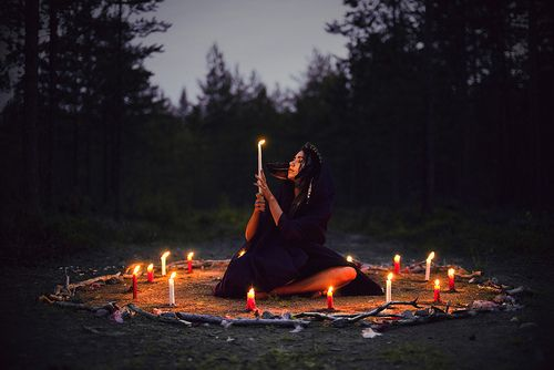 Beautiful. : Forests, Magick Witches Fantasy, Moon, Wicca Pagan Witchcraft, Witchy, Goddesses, Witchcraft Spirituality, Candles Magic, Sacred Circles