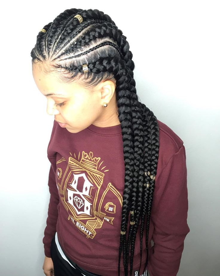 "142 Likes, 3 Comments - Salon Ramsey (@qthebraider) on Instagram: ""Feed-in Cornrows + minis + hair jewelry  Want this look? ❌DO NOT WAIT UNTIL THE LAST MINUTE, BOOK…"""