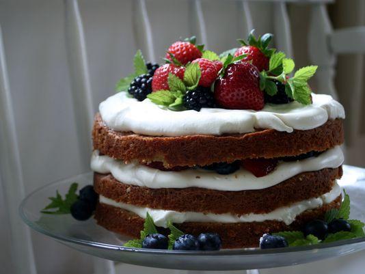 Summer Berry Birthday Cake