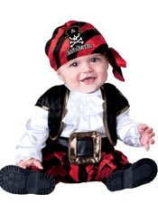 Baby Pirate Costume...wanna put dray in something like thus for his bday....so cute!!