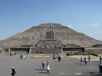Pyramid of The Sun - Teothuacan Aztec Ruins - Mexico