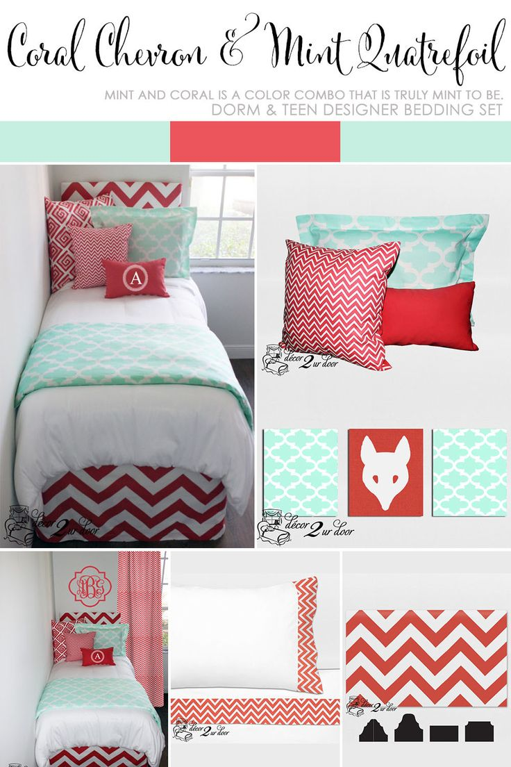Coral Dorm Room Bedding, Mint And Coral Dorm Room, Coral Dorm Room, Coral Part 68