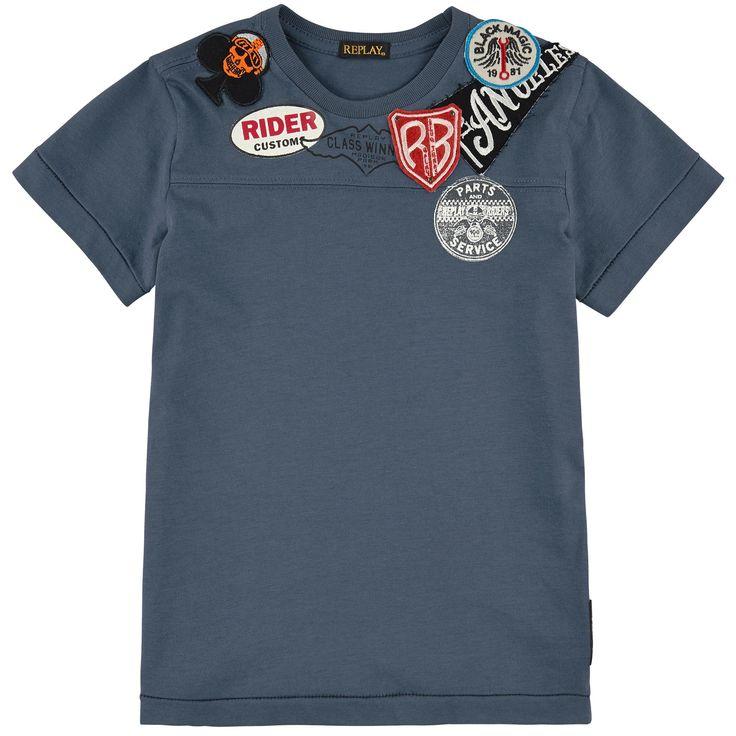 Cotton jersey Tee Replay&Sons для мальчиков | Melijoe.com
